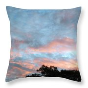 Looks Like And Oil Painted Sky Throw Pillow
