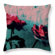 Looks Like Painted Roses Abstract Throw Pillow