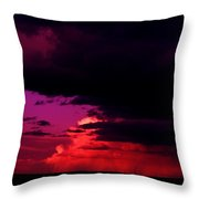 Looming Clouds Over Alberta Throw Pillow