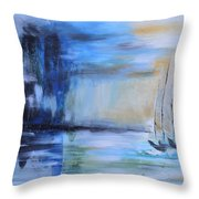 Looming In The Distance Throw Pillow