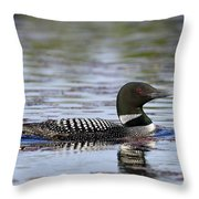 Loon And Reflection Throw Pillow