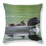Loon Chick - Big Yawn Throw Pillow