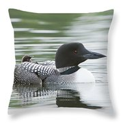 Loon Chick Rise And Shine Throw Pillow