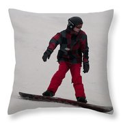 Loon Run 10 Throw Pillow