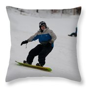 Loon Run 17 Throw Pillow
