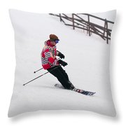 Loon Run 27 Throw Pillow