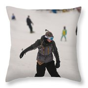 Loon Run 5 Throw Pillow