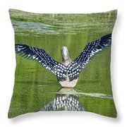 Loon Wings Throw Pillow