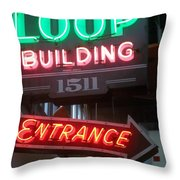 Loop Building 1511 Throw Pillow