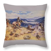 Loops And Swift Horses Are Surer Then Lead Throw Pillow
