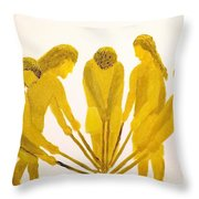 Loose Ball Third In Stickball Series Throw Pillow