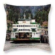 Lopez Island Ferry Throw Pillow