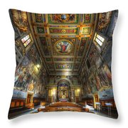 L'oratorio Del Santissimo Crosifisso Throw Pillow