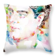 Lord Byron - Watercolor Portrait Throw Pillow