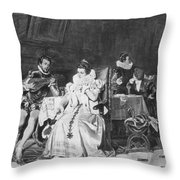 Lord Darnley/mary Stuart Throw Pillow