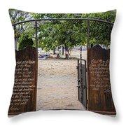 Lord's Prayer Hail Mary Gates 5184 Throw Pillow