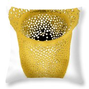 Lorica Shell Of Tintinnid Ciliate Sem Throw Pillow