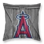 Los Angeles Angels Throw Pillow by Joe Hamilton