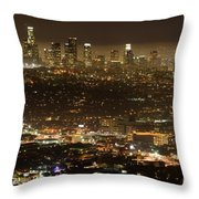 Los Angeles At Night Throw Pillow