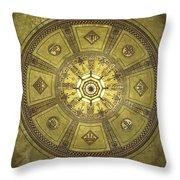 Los Angeles City Hall Rotunda Ceiling Throw Pillow