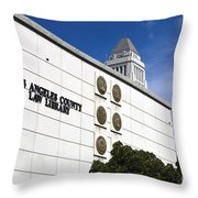 Los Angeles County Law Library Throw Pillow