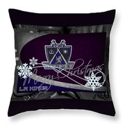 Los Angeles Kings Christmas Throw Pillow