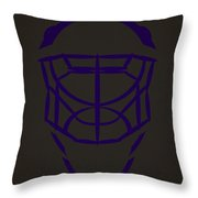 Los Angeles Kings Goalie Mask  Throw Pillow