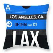Los Angeles Luggage Poster 3 Throw Pillow