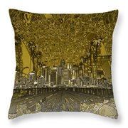 Los Angeles Skyline Abstract 4 Throw Pillow