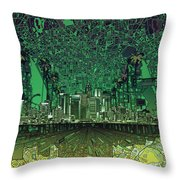Los Angeles Skyline Abstract 6 Throw Pillow