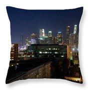 Los Angeles Skyline At Dusk Throw Pillow