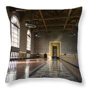 Los Angeles Union Station Interior Throw Pillow