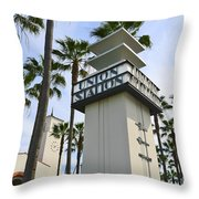 Los Angeles Union Station. Throw Pillow