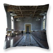 Los Angeles Union Station Original Ticket Lobby Throw Pillow