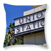 Los Angeles Union Station Throw Pillow
