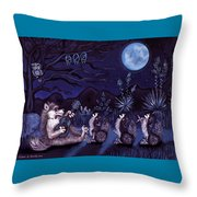 Los Cantantes Or The Singers Throw Pillow
