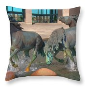 Los Colinas Mustangs 14675 Throw Pillow