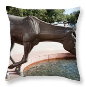 Los Colinas Mustangs 14687 Throw Pillow