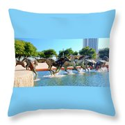 Los Colinas Mustangs 14698 Throw Pillow