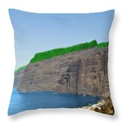 Los Gigantes Tenerife Spain Throw Pillow