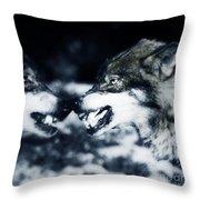 Los Lobos Throw Pillow