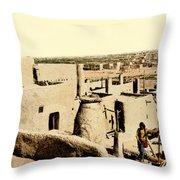 Los Pueblos De Taos Throw Pillow