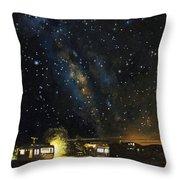 Los Rancheros Rv Park Throw Pillow