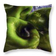Los Tres Amigos Verdes Throw Pillow