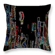 Losing Equilibrium - Abstract Art Throw Pillow