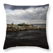 Lost Boats Throw Pillow