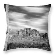 Lost Dutchman State Park - Arizona Throw Pillow
