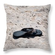 Lost Flipflop Throw Pillow