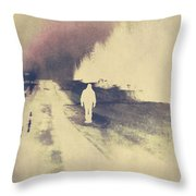Lost Hitch Hiker Throw Pillow