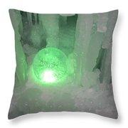 Lost Ice Globe Throw Pillow